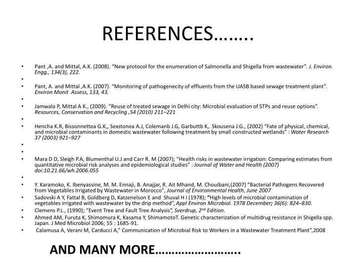 REFERENCES……..