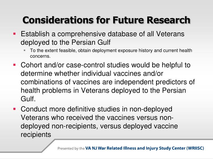 Considerations for Future Research