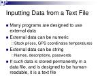 inputting data from a text file