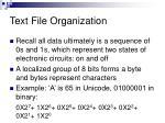 text file organization