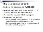 the filereader and bufferedreader classes