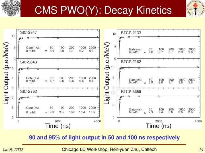 CMS PWO(Y): Decay Kinetics