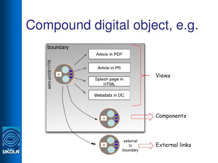 Compound digital object, e.g.