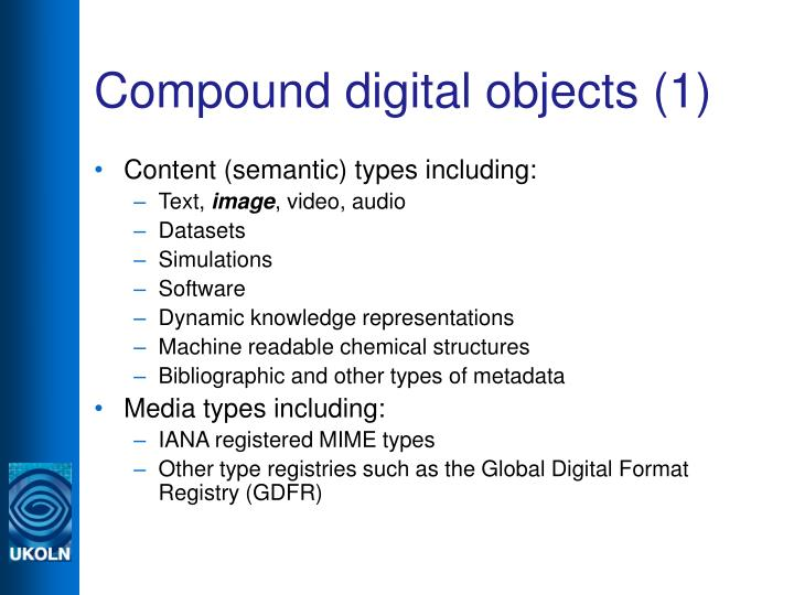 Compound digital objects (1)