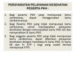 persyaratan pelayanan kesehatan peserta pkh