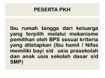 peserta pkh