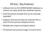 eprints key features