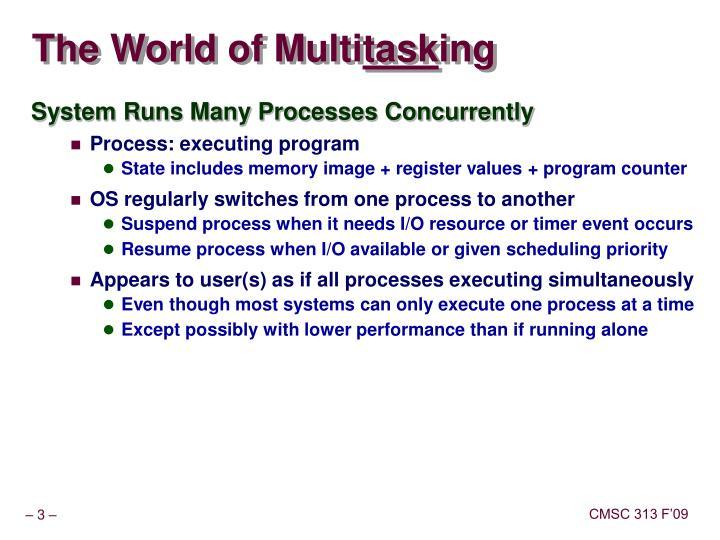 The world of multi task ing