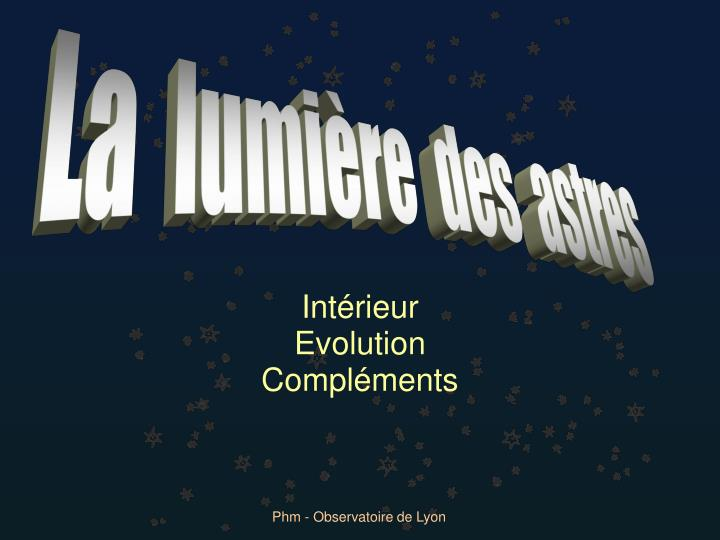 Int rieur evolution compl ments