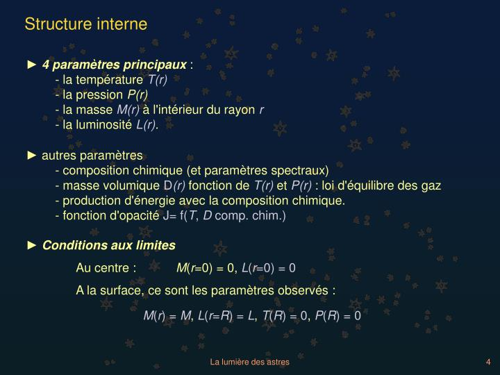 Structure interne