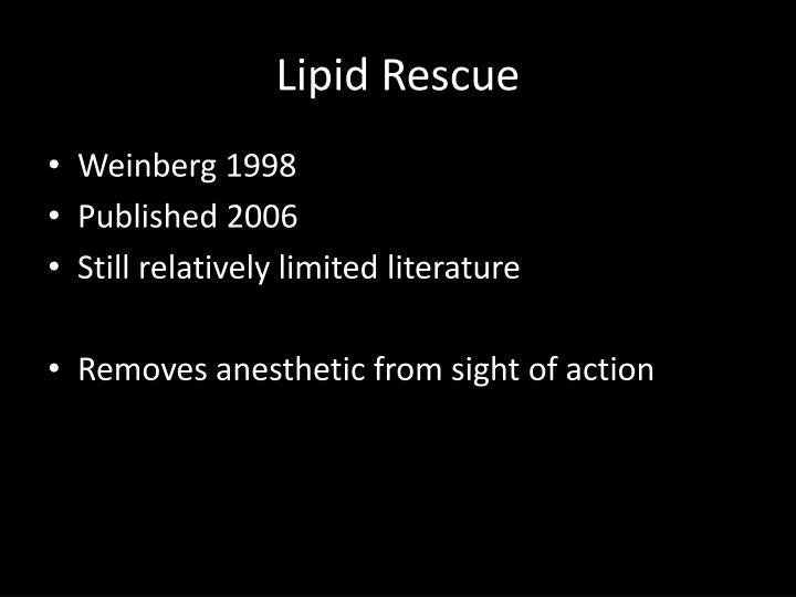 Lipid Rescue