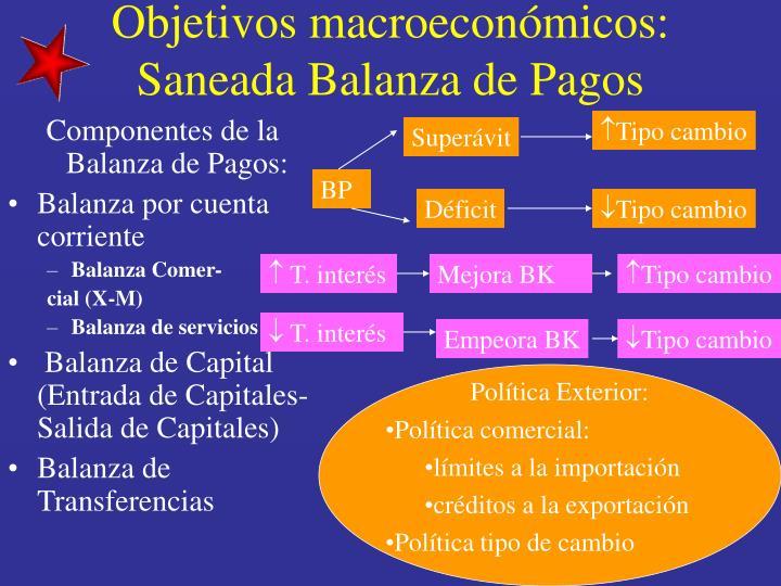 Componentes de la Balanza de Pagos: