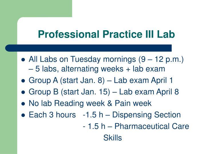 Professional practice iii lab