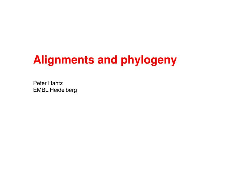 Alignments and phylogeny