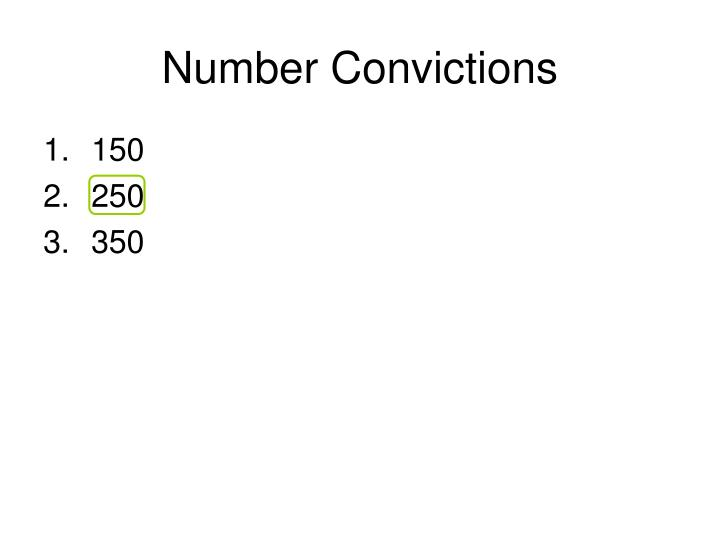Number Convictions