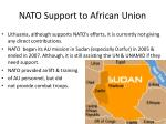 nato support to african union