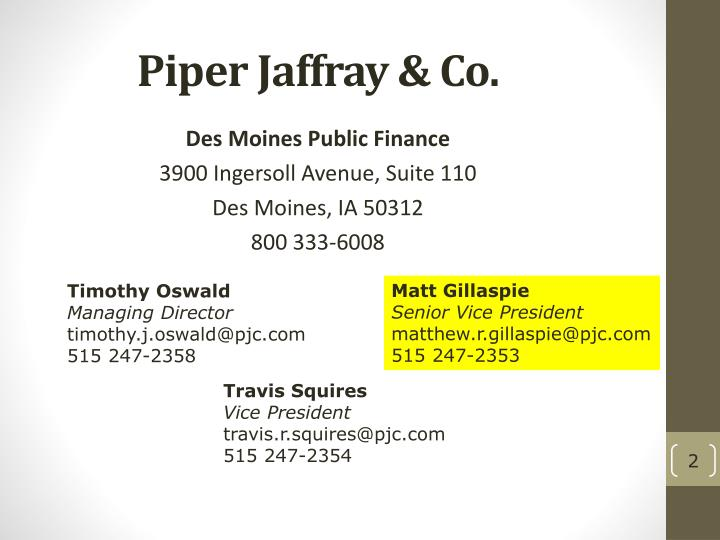 Piper jaffray co