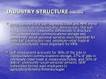 industry structure continued