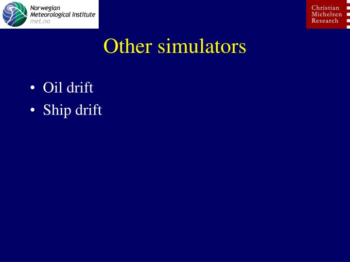 Other simulators