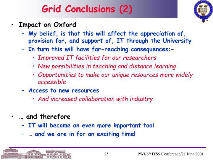 Grid Conclusions (2)