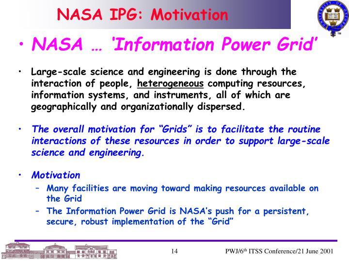 NASA IPG: Motivation
