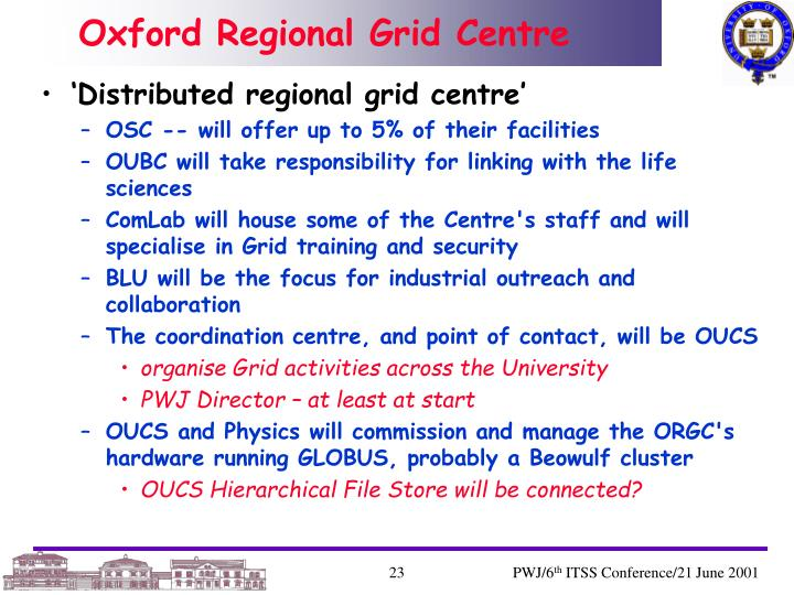 Oxford Regional Grid Centre