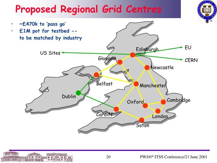 Proposed Regional Grid Centres