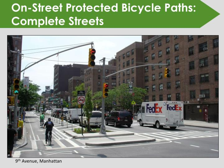 On-Street Protected Bicycle Paths: