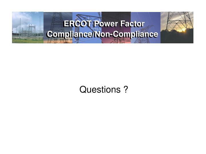 ERCOT Power Factor