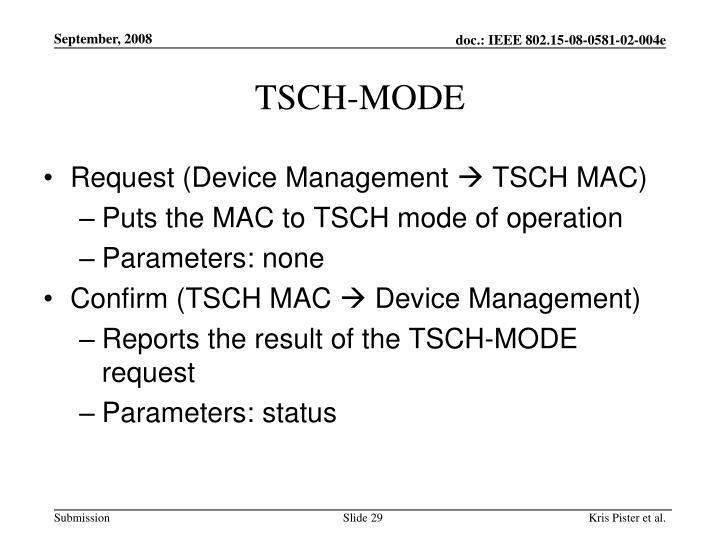 TSCH-MODE