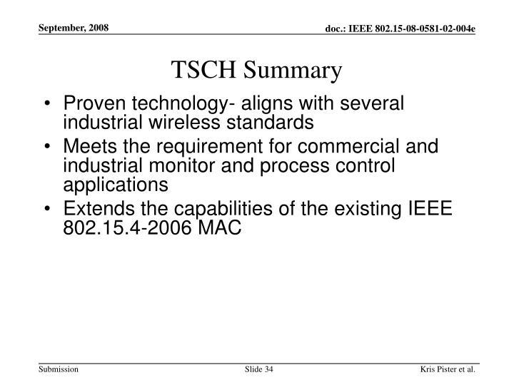 TSCH Summary