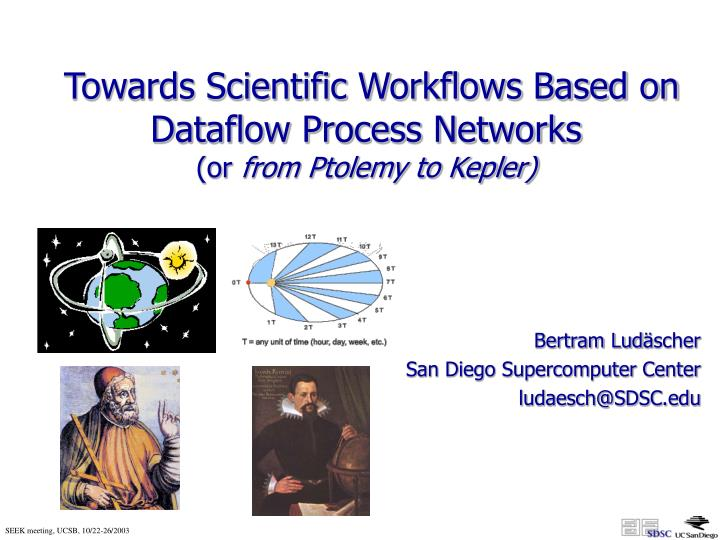 towards scientific workflows based on dataflow process networks or from ptolemy to kepler n.