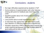 conclusions students