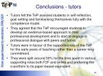 conclusions tutors
