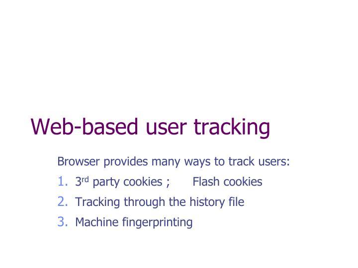 Web-based user tracking