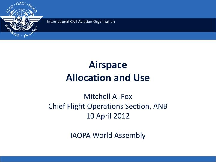 airspace allocation and use n.