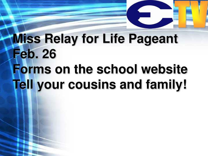 Miss Relay for Life Pageant
