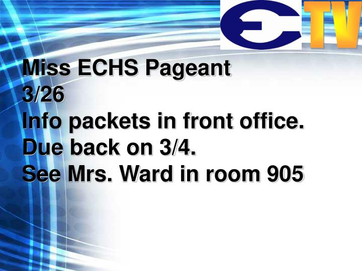 Miss ECHS Pageant