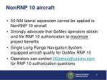 nonrnp 10 aircraft