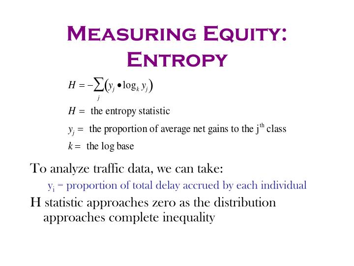 Measuring Equity: Entropy