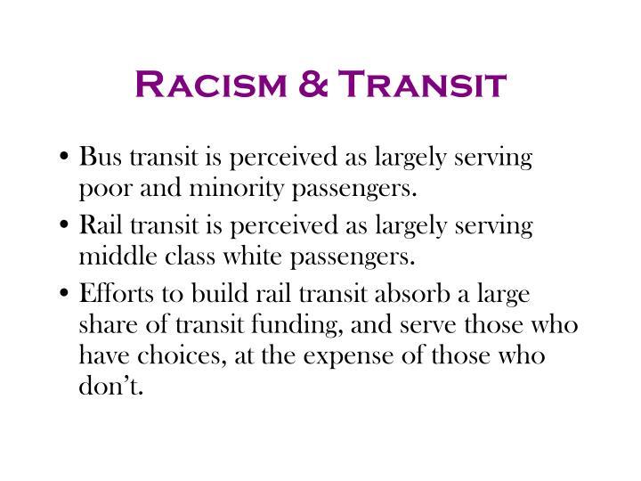Racism & Transit