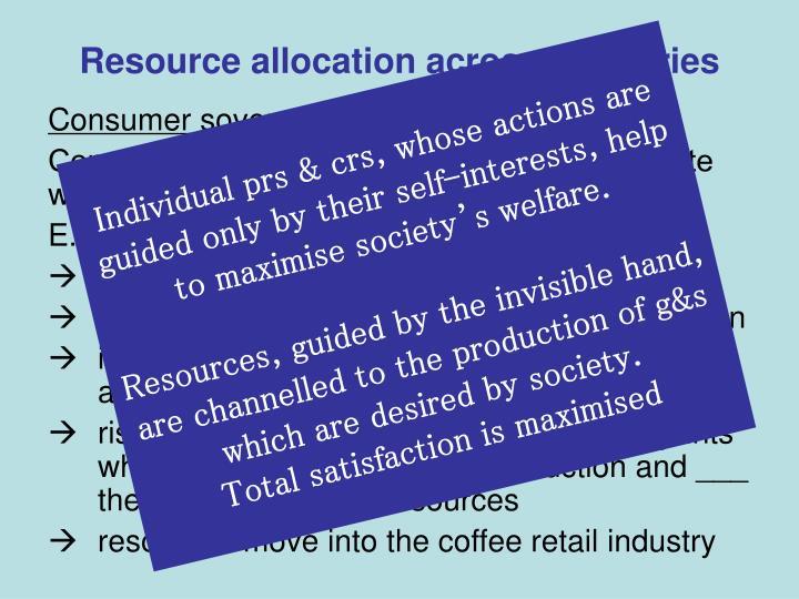 Resource allocation across industries