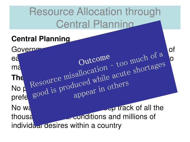 Resource Allocation through