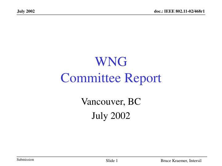 wng committee report n.