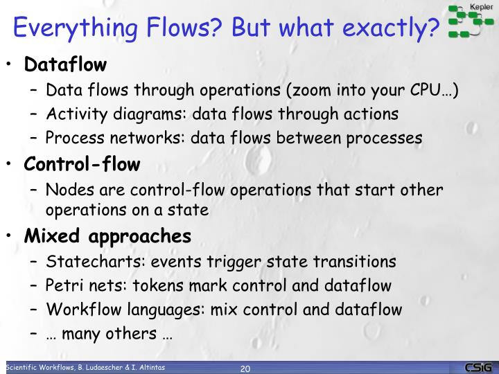 Everything Flows? But what exactly?