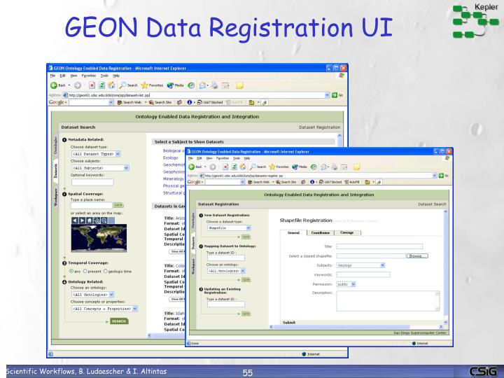 GEON Data Registration UI