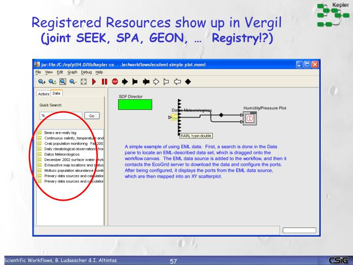 Registered Resources show up in Vergil