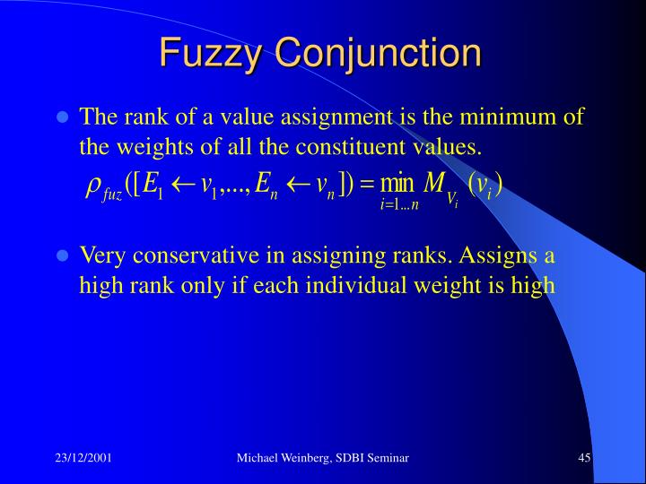 Fuzzy Conjunction