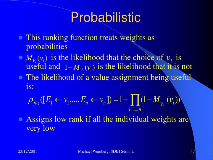 Probabilistic