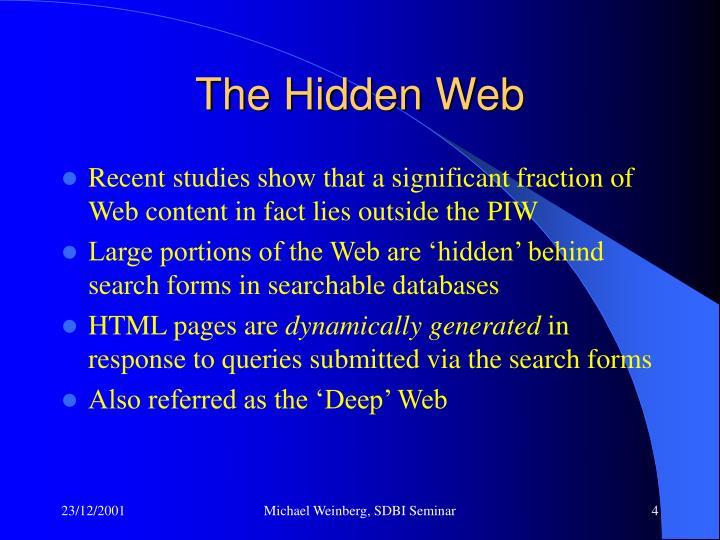 The Hidden Web
